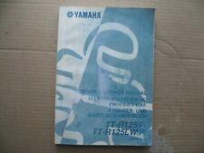 YAMAHA  TT-R125(P) - TT R125LW(P): Manuel d'atelier du propriétaire d'usine