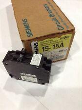SIEMENS / ITE Q1515 NEW CIRCUIT BREAKER TWIN POLE 15 AMP 120 VAC Box Of 12