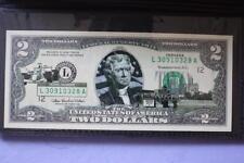 US COLORIZED $2 BANK NOTE ARIZONA STATEHOOD UNCIRCULATED BILL IN FOLDER