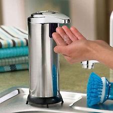 280ml Stainless Auto Handsfree Sensor Touchless Soap Dispenser Kitchen Bathroom