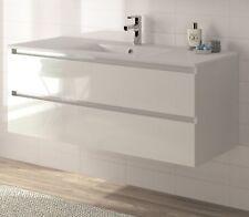Badmöbel Badmöbelset vormontiert weiß Glanz Softclose Waschtisch 120cm ALLIBERT