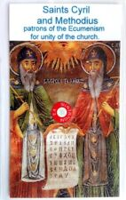 SAINT Cyril and Methodius relic card of for unity of Orthodox with Roman Church