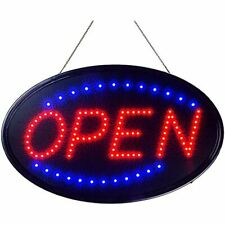 Neon Open Sign For Business Jumbo Lighted With Static And Flashing Modes Large X
