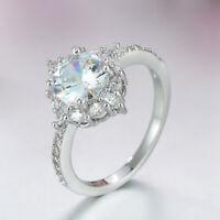 Damen Ring Verlobungsring versilbert Silber Ehering Hochzeit Schmuck 52 55 57 60