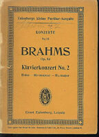 Brahms : Klavierkonzert No.2 B-Dur Op. 83  ~ Studienpartitur