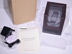 Baiwka Automatic Watch Winder Dual Power Single Wristwatch Turner Carbon Effect