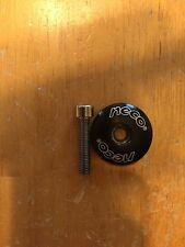 Neco Brand Bicycle Headset Top cap 1 1/8 inch - Black - With Bolt