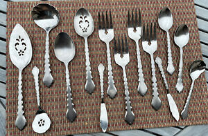 Lot Of 14 Oneida CELLO Serving Pieces Stainless EUC