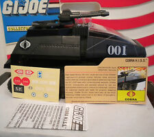 GI JOE~ 2008 COBRA H.I.S.S. TANK with UNUSED stickers,file crd & blueprints hiss