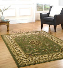 X LARGE GREEN CREAM CLASSIC TRADITIONAL RUG 160x230