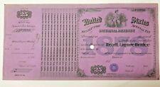 """1878 U.S. Internal Revenue Special Tax Stamp-Retail Liquor Dealer-SIGNED! 14""""x7"""""""