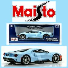 Maisto 1:18 Diecast Metal 2020 Special Edition - Blue Heritage GULF 2019 Ford GT