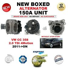 FOR VW CC 358 2.0 TDi 4Motion 2011-ON NEW 150A ALTERNATOR without STOP START