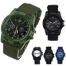 Men's Military Army Sport Style Canvas Strap Luminous Quartz Wrist Watch Novelty