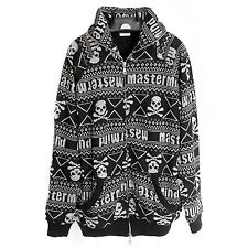 MASTERMIND Japan: Fair Isle Skull Sweater Hoodie Knit Black Snowboarding Bape
