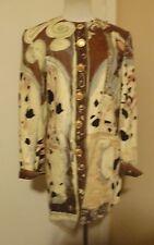 NWOT Louis Feraud BROWN MULTI Suit Jacket Blazer SIZE 4