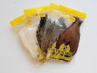 Veniard Indian Cock Capes for Fly Tying, Fly Tying Feathers Choice of Colours