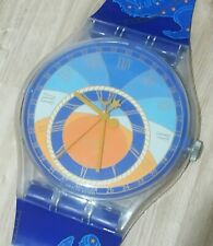 "Maxi Swatch MGK179 "" Azimut "" 1993 Rare Collectable Wall Clock Pop Art Zodiac"