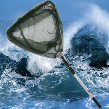 Durable Triangular Folding Fishing Landing Net 3 Section Extending Pole Handle