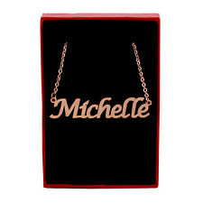 MICHELLE Name Necklace Stainless Steel / 18ct Rose Gold Plated | Identity Custom