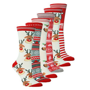 Ladies Girls Christmas Character Socks Novelty Festive Xmas Gift Party Santa NEW