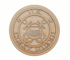 U.S. Coast Guard Logo Unfinished Wooden Cut Out Artistic Craft Supply