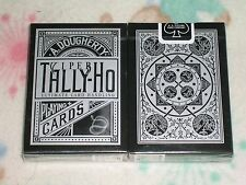 1 DECK Tally Ho Viper FAN Back Playing Cards Black & Silver PERFORM