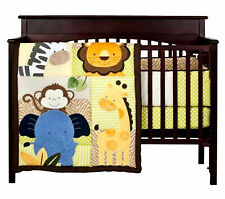 FULL CRIB SIZE - Tiddliwinks - Safari Friends VALANCE, QUILT, BUMPER & SHEET SET