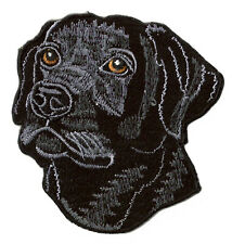 Écusson patche Chien noir thermocollant patch customisation brodé badge