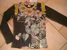 (172) Nolita Pocket Girls Langarm Shirt mit Blumen Druck Volants & Besatz gr.116