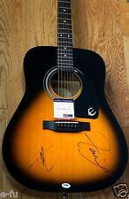 FAITH HILL TIM McGRAW Dual Signed Epiphone Acoustic Guitar PSA/DNA BIG Autograph