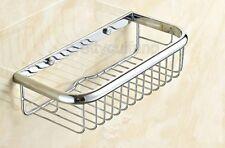 Chrome Brass Wall Mounted Bathroom Soap / Sponge Shower Storage Basket Pba524