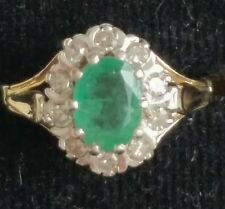 Emerald 14 Carat Yellow Gold Oval Fine Gemstone Rings