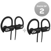 TREBLAB XR500 Waterproof Bluetooth Headphones Running Wireless Earbuds Pack of 2