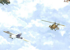 Modern Airplanes & Helicopters in the Clouds Sure Strip Wallpaper BZ9161