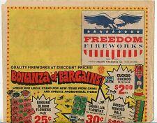 """1983 Vintage Sales Sheet: """"FREEDOM FIREWORKS"""""""