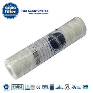"5pk x Aquafilter 5 Micron Yarn String Wound Sediment Water Filter 10"" FCPP5"
