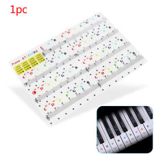 54/61/88 Key Note Transparent Decal Musical Instrument Piano Keyboard Sticker