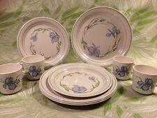 Corelle BLUE IRIS Cornerstone Corning DINNER/LUNCHEON PLATES