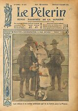 Portrait Sammies Soldiers US Army Battle of France WWI 1917 ILLUSTRATION