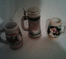 3 Beer Steins Avon English Setter Budweiser-Dee Bill Co