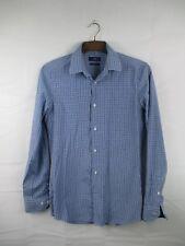 "Mens Next Blue & White Check Casual Shirt Size 15"" #84K2"