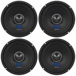 "(4) Rockville RXM68 6.5"" 600w 8 Ohm Mid-Bass Drivers Car Speakers, Mid-Range"