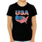 4th of July Shirts for Boys USA Shirt American Flag Shirt for Kids Patriotic Shi
