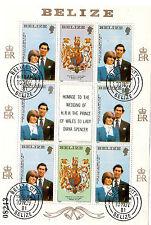 BELIZE 1981 Le couple Royal ,prince de Galles et Lady Diana Spencer #553  AX-C37