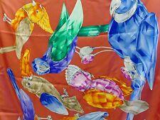 Swarovski | Crystal Birds Silk Scarf *Brand New* 291569 Rare Retired $200 Parrot