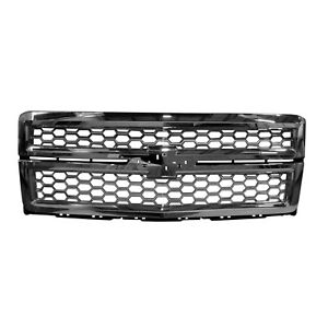 New OE Chrome / Gray Front Grille 23259624