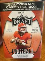 2021 Leaf NFL Draft Football Cards Blaster Box Factory Sealed 50 Cards +2 AUTOS