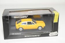 . MINICHAMPS VW VOLKSWAGEN SCIROCCO 1974 YELLOW MINT BOXED