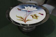 Antiker Jugendstil Tortenständer Kuchenplatte Keramik Floral um 1900